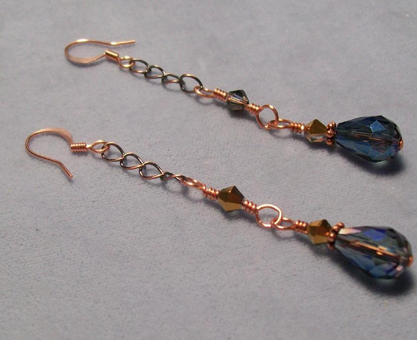Vintage Flair Crystal Teardrop Earrings