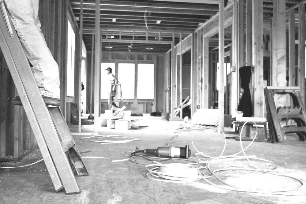 Interior of home under construction