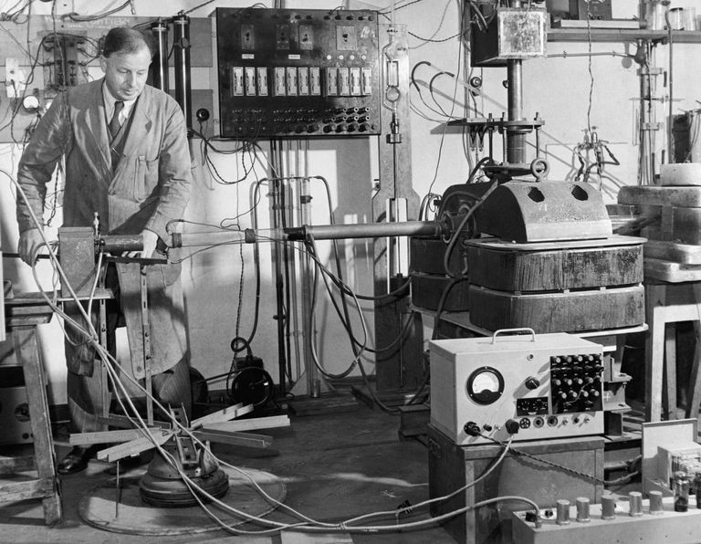 The Cavendish Laboratory at the University of England is a research lab where scientists perform transmutation experiments.