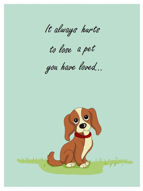 Free Printable Pet Sympathy Cards For Dogs