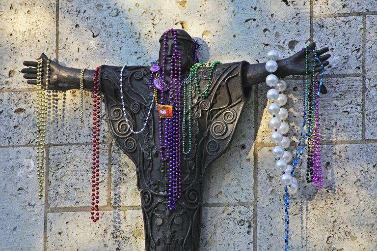 Mardi Gras beads carnival
