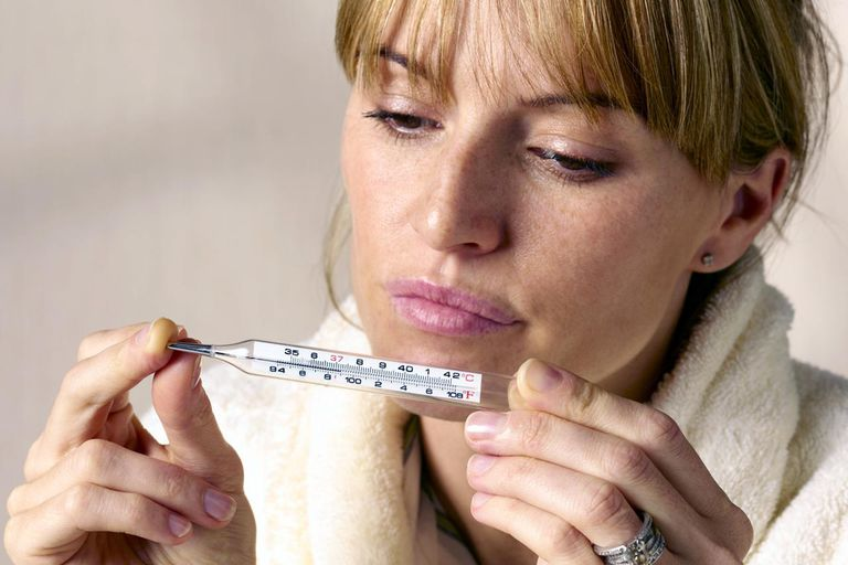fever, temperature, thermometer