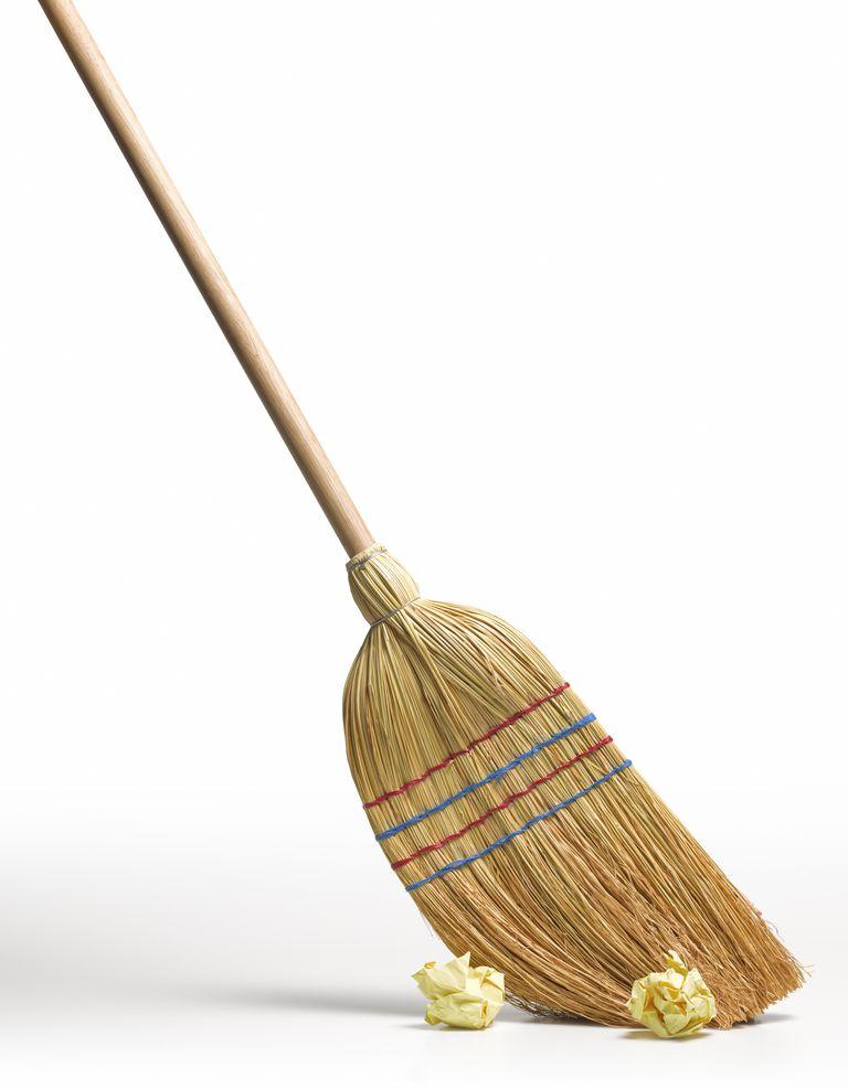 Clean broom sweeps clean