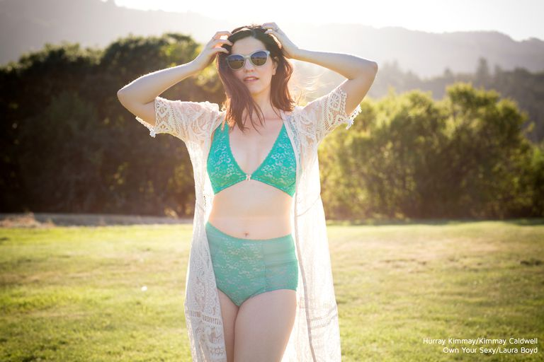 Kimmay Caldwell wearing green Blush bralette