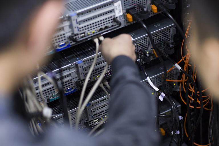 Working in network room