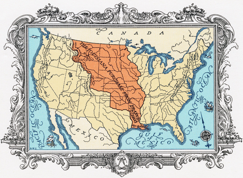Louisiana Purchase - Map of us after louisiana purchase