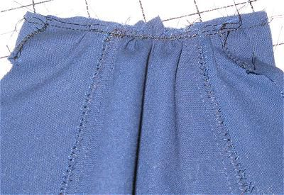 Gather the Skirt to the Waistband