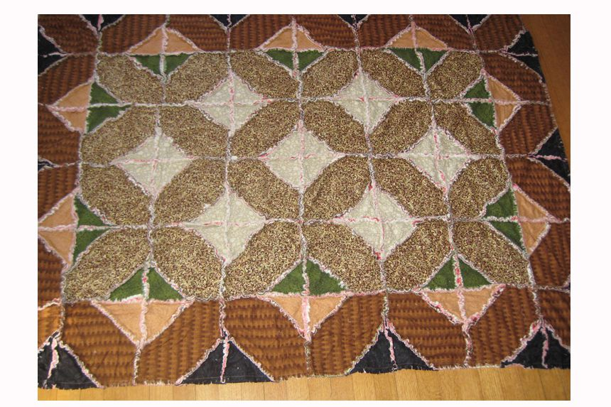 Indian Hatchet Rag Quilt Pattern