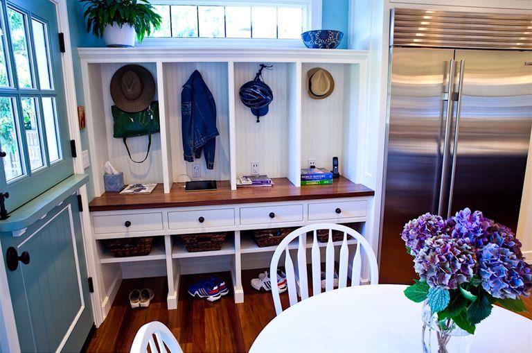 mudroom organization kitchen