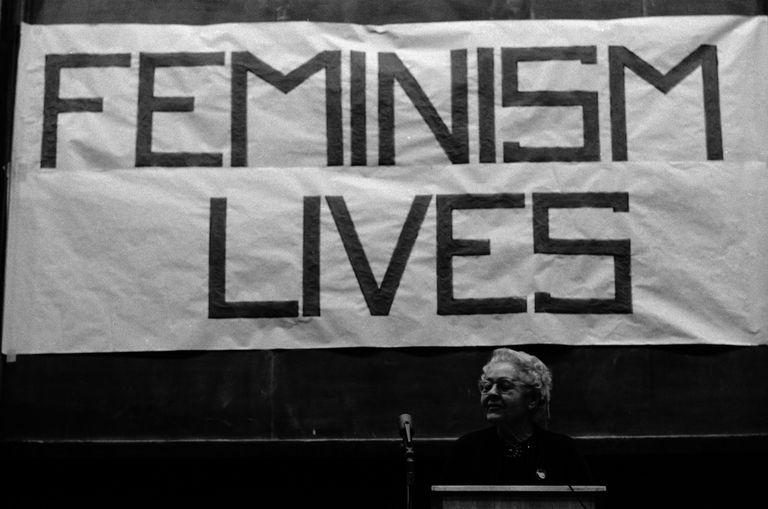 Florence Luscomb speaks at Radcliffe College, Cambridge, Massachusetts, 1971
