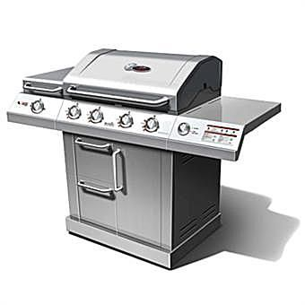Char-Broil Red 4-Burner with Auto-Clean Model #463250910