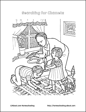 passover coloring page searching for chametz passover printables 7 - Passover Coloring Pages Printable