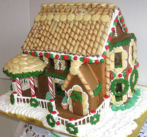 Side View of Gingerbread House 2009