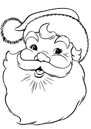 printable santa coloring pages via free coloring pagescom - Free Coloring Pages Com