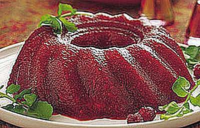 Port Wine Cranberry Gelatin Mold