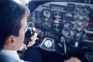 AIRPLANE PILOT TALKING ON RADIO