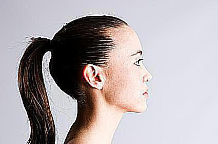 photo of a ponytail