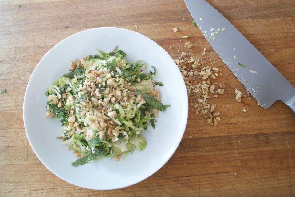 salad of brussels sprouts and dill