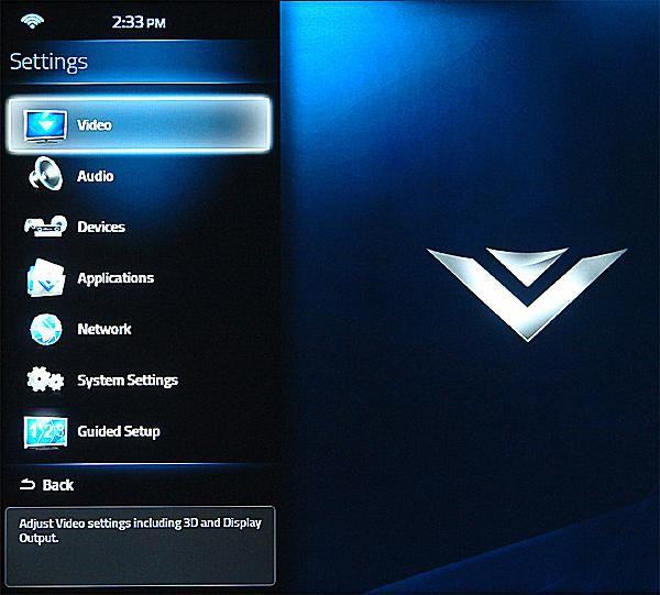 vizio co star with google tv stream player model vap430 photo of main menu - Visio Costar
