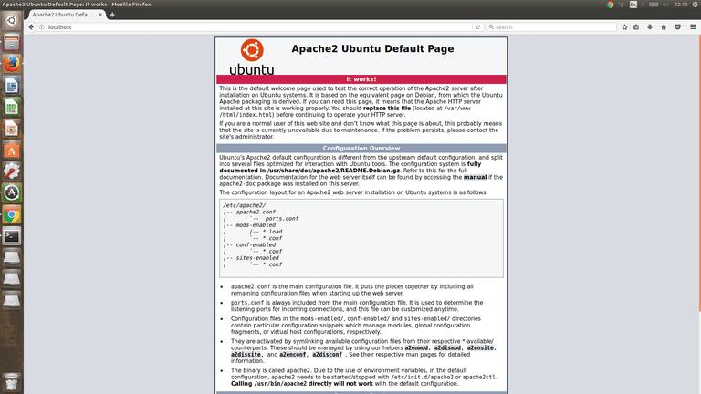 Apache Running On Ubuntu