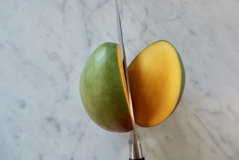 The best way to cut a mango first side mango cut molly watson ccuart Choice Image