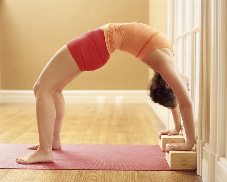 Yoga Wheel Pose With Props