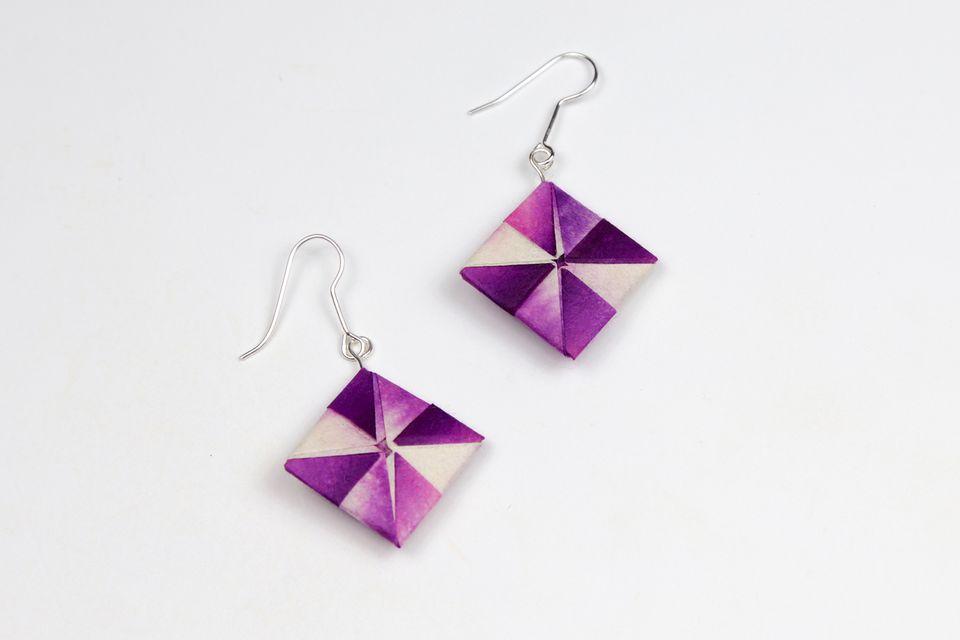 how to make origami earrings