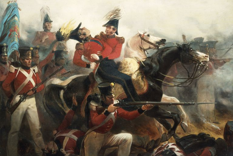 Painting of the death of General Ross at the Battle of Baltimore.