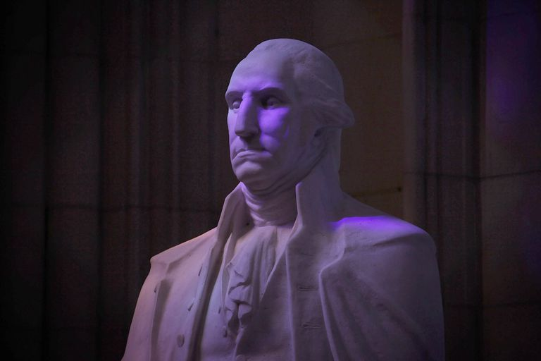 Statue of George Washington in the National Cathedral