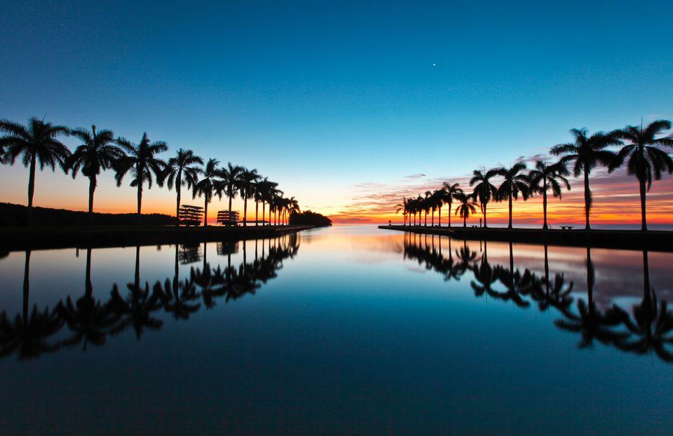 Florida sunrise on the water