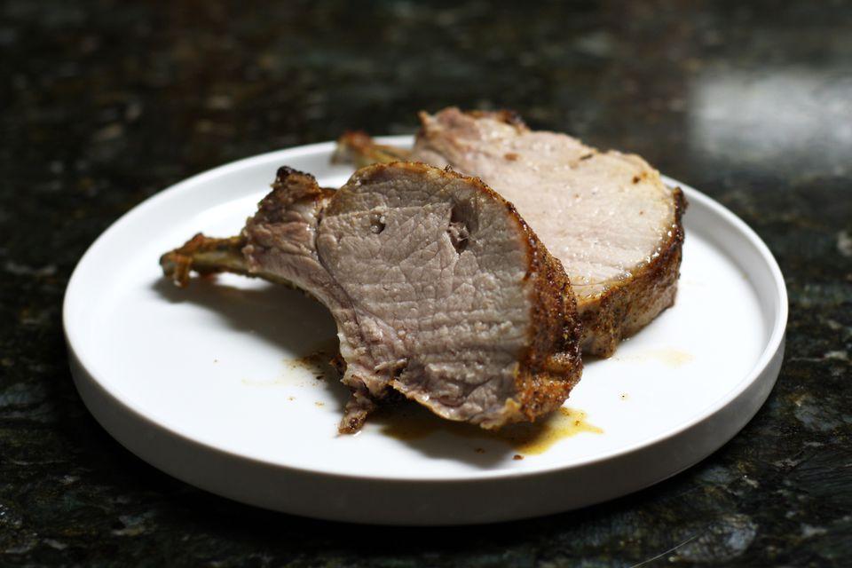 Pork Loin Rib Roast, Sliced
