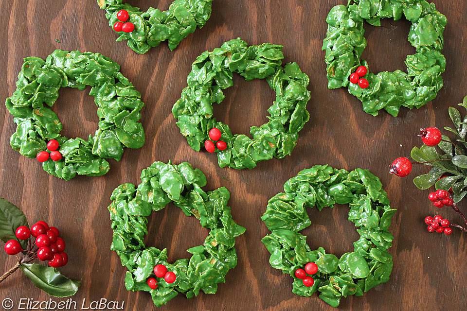 recipe: cornflake wreaths recipe [9]