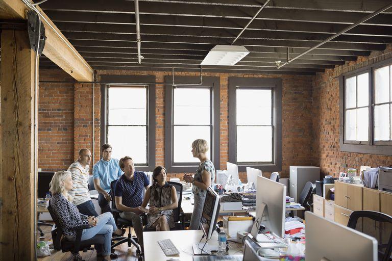 Trabajadores de una startup