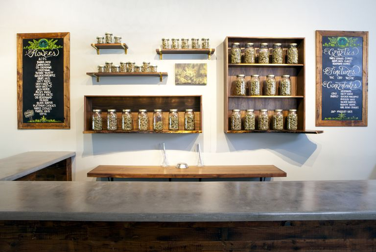 Marijuana dispensary in Portland, OR.