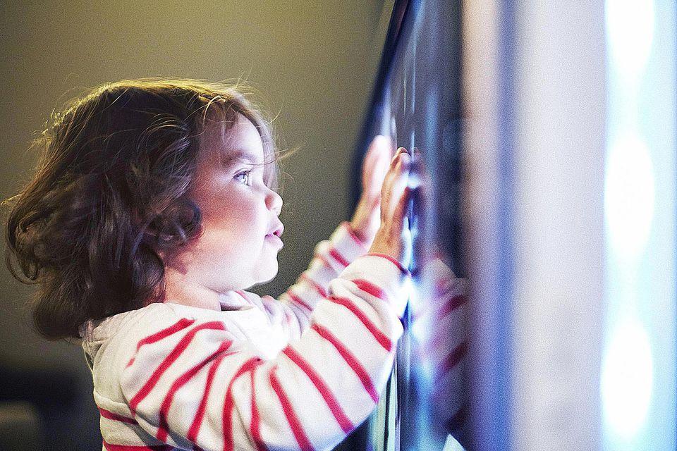 Toddler Touching TV