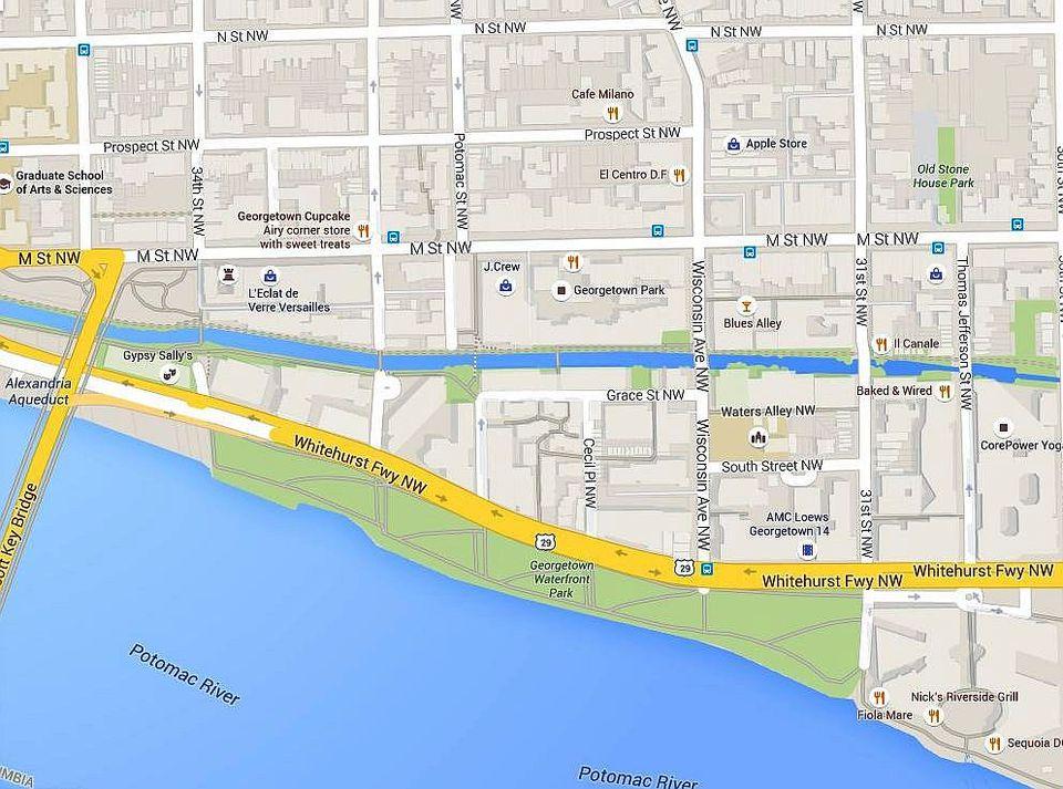 Washington DC Map of Georgetown