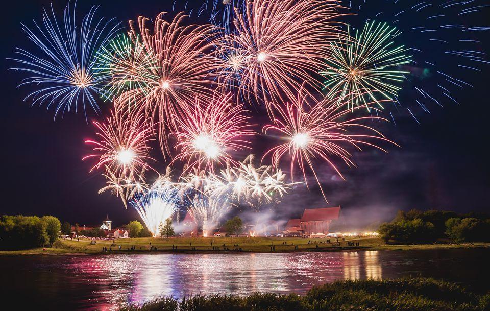 Lithuania fireworks display