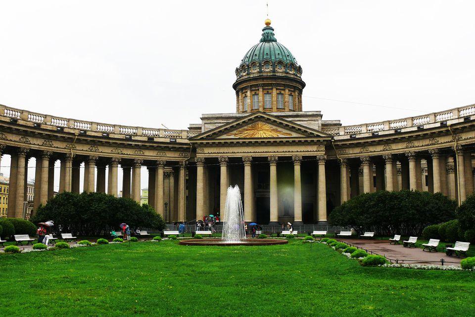 Garden view of Kazan Cathedral