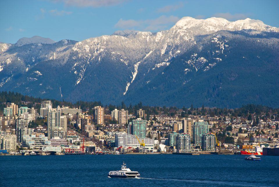 Seabus Crossing Burrard Inlet, Vancouver