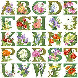 ABC Floral Sampler Cross Stitch - Kooler Design Studio