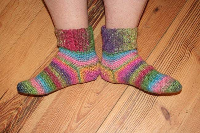 Single Crochet Socks Free Pattern