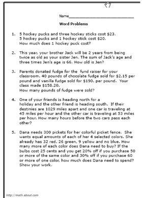 8th grade math word problems worksheets. Black Bedroom Furniture Sets. Home Design Ideas