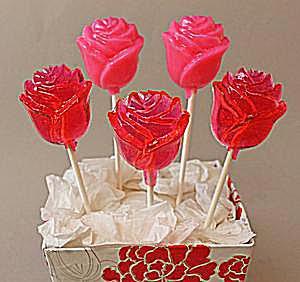 Rose Lollipops