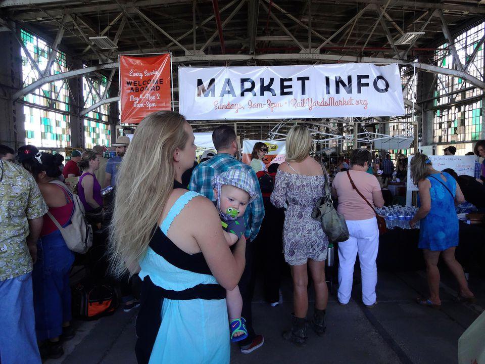 Rail Yard Market Entrance