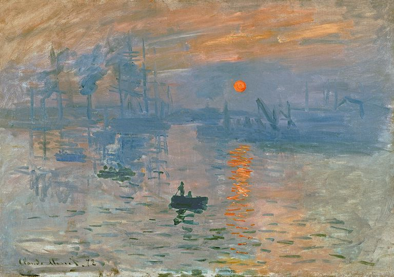 Impressionist painting by Claude Monet of sunrise
