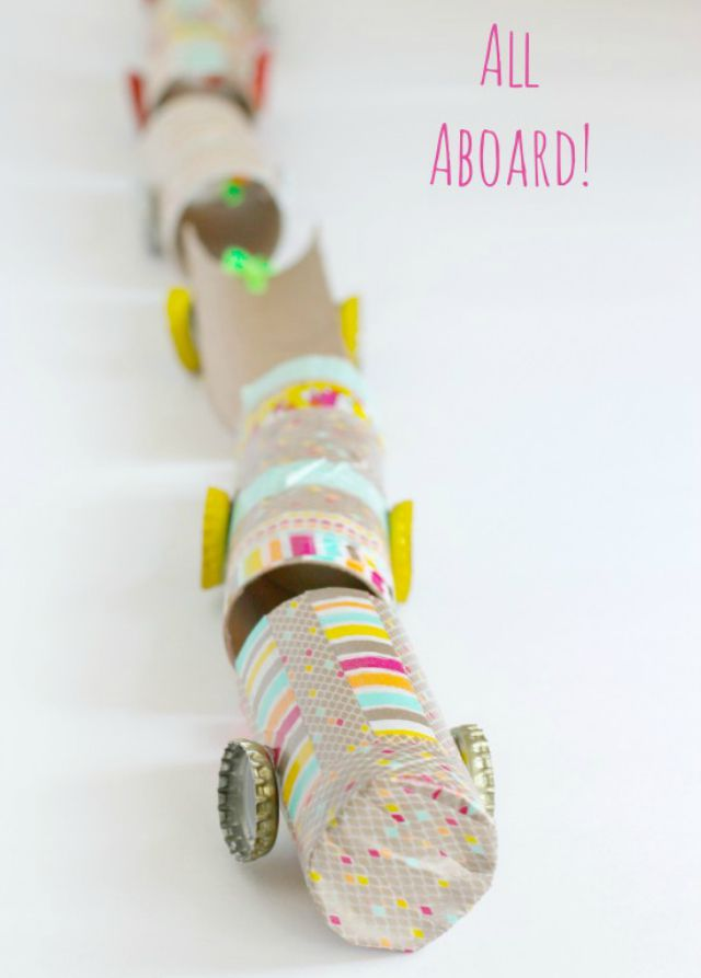 Recycled Paper Tube Train