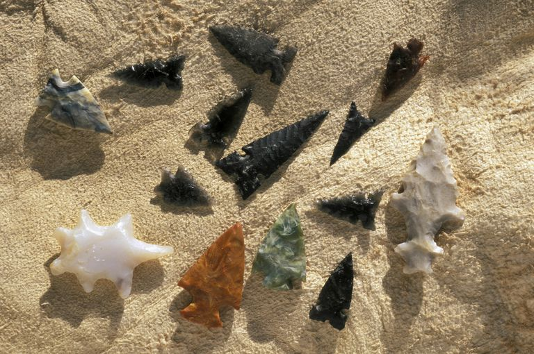 Stone Arrowheads, Prehistoric Ute Culture. James Bee Collection, Utah.