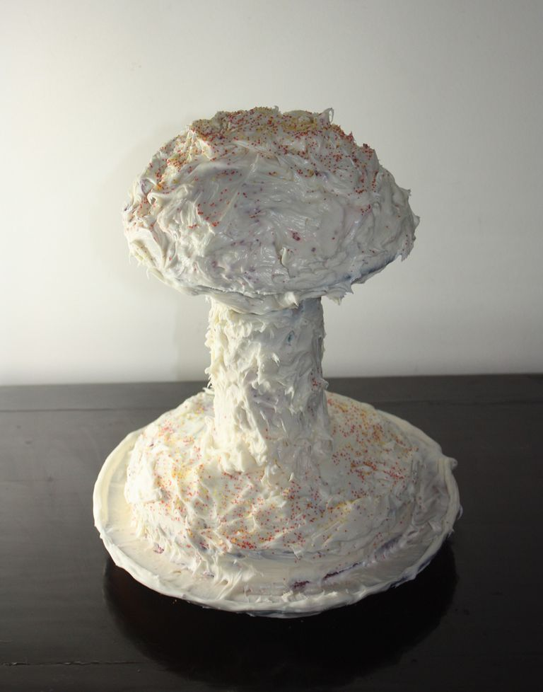 It's easy to make and decorate a cake so that it looks like a nuclear explosion or atomic cake.