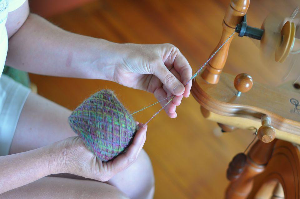 Plying Wool