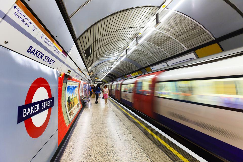 Baker Street Station on the London Underground.